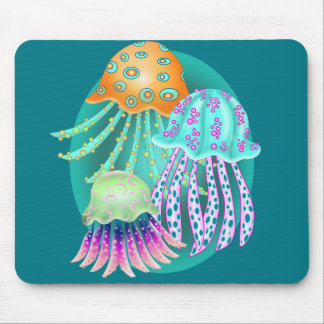 Happy Jellyfish Mouse Pad
