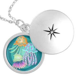 Happy Jellyfish Silver Plated Necklace