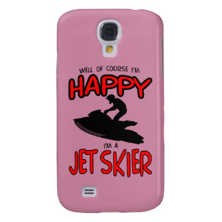 HAPPY JET SKIER (black) Samsung Galaxy S4 Covers