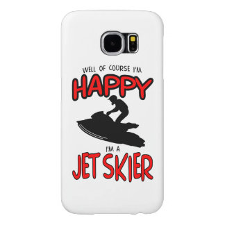 HAPPY JET SKIER (black) Samsung Galaxy S6 Cases