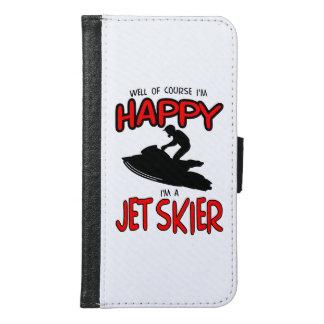 HAPPY JET SKIER (black) Samsung Galaxy S6 Wallet Case