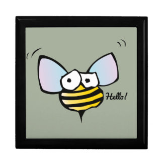 Happy Jolly Bee Large Square Gift Box