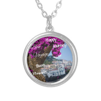 Happy journey silver plated necklace