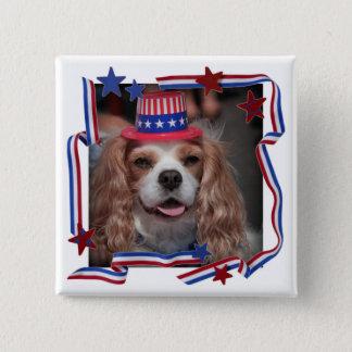 Happy July 4th! 15 Cm Square Badge