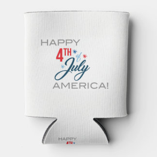 Happy July 4th Can Cooler