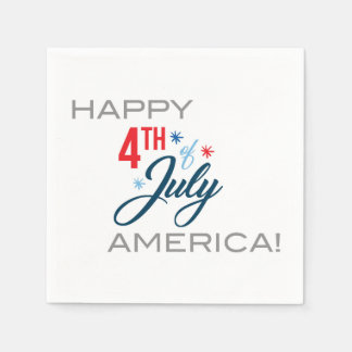 Happy July 4th Napkins! Disposable Napkin