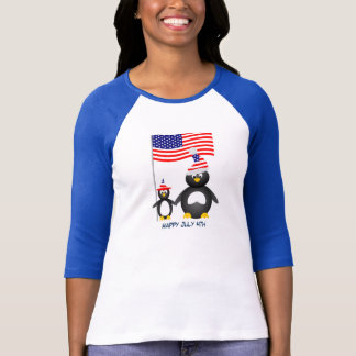 Happy July Fourth Penguins T-Shirt