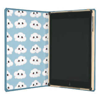 Happy Kawaii Cute and Smiling Clouds Cover For iPad Air
