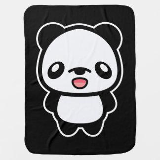 Happy Kawaii Panda Baby Blanket