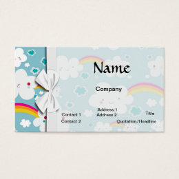 Kawaii patterns business cards business card printing zazzle happy kawaii rainbow and cloud sky pattern business card colourmoves