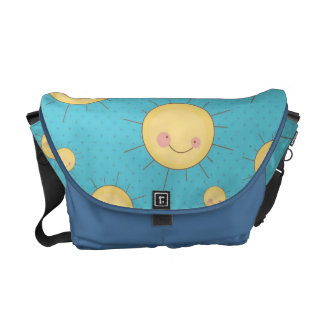 happy kawaii sunny suns pattern courier bag