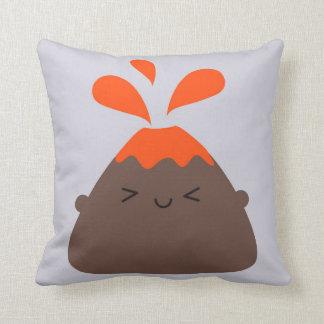 Happy Kawaii Volcano Cushion