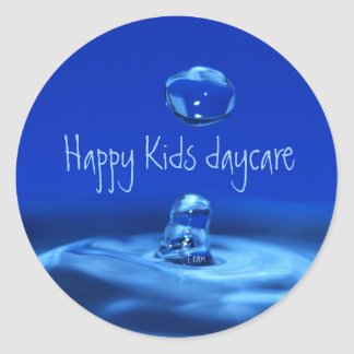 Happy Kids daycare Classic Round Sticker