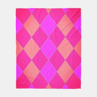 Happy-Kids-Harlequin_M_Rose-Melon(c)Fleece_Blanket Fleece Blanket