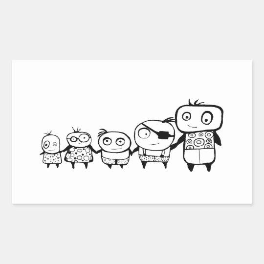 Happy Kids Rectangular Sticker