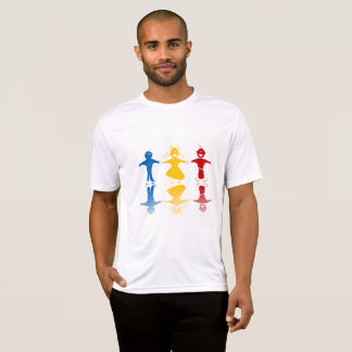Happy Kids Silhouettes Mens Active Tee