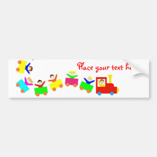 Happy Kids Train Bumper Sticker