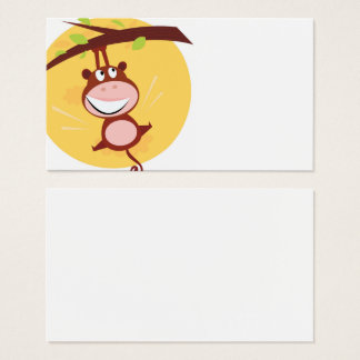 Happy kids visit Card with MONKEY