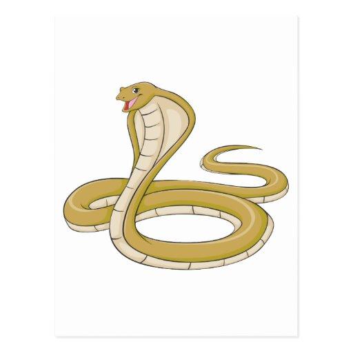 Happy King Cobra Snake Postcard