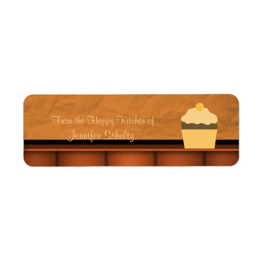 Happy Kitchen Cupcake Custom Personalised Return Address Label