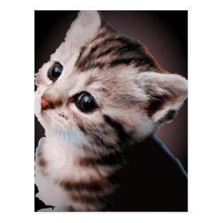 Happy kitten postcard