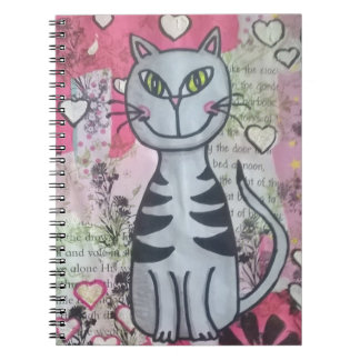 Happy kitty notebook