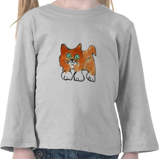 Happy Kitty Out for a Walk T Shirt