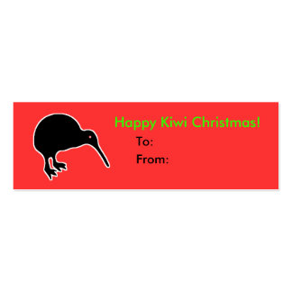 Happy Kiwi Christmas Gift Present Tag Business Cards