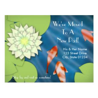 Happy Koi Moving Announcement Postcard