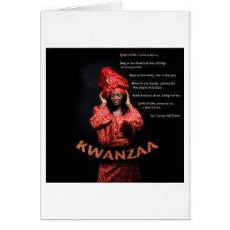 Happy Kwanzaa 321 Card