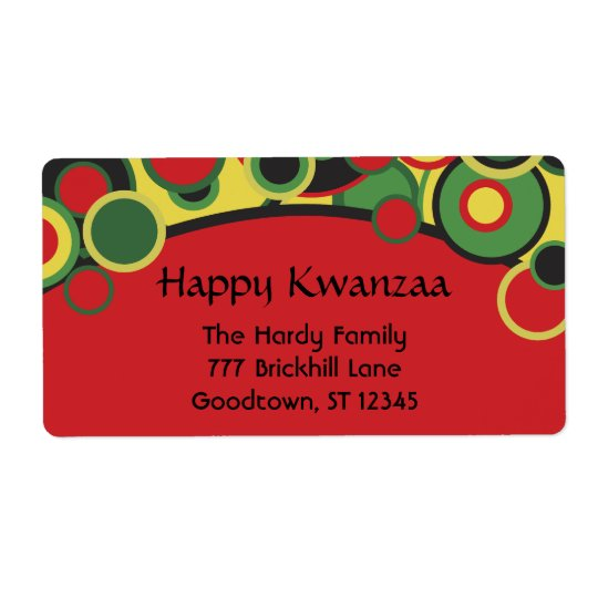 Happy Kwanzaa Address Labels