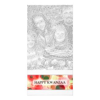 happy kwanzaa (bokeh) photo greeting card