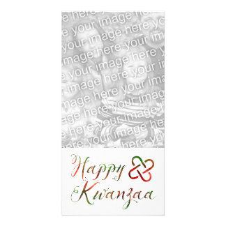 Happy Kwanzaa Bokeh Umoja Photo Greeting Card