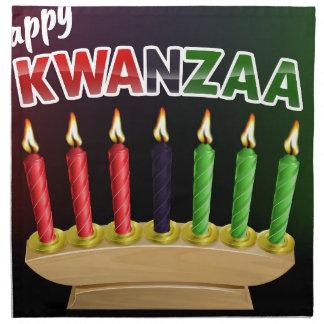 Happy Kwanzaa Candles Design Napkin