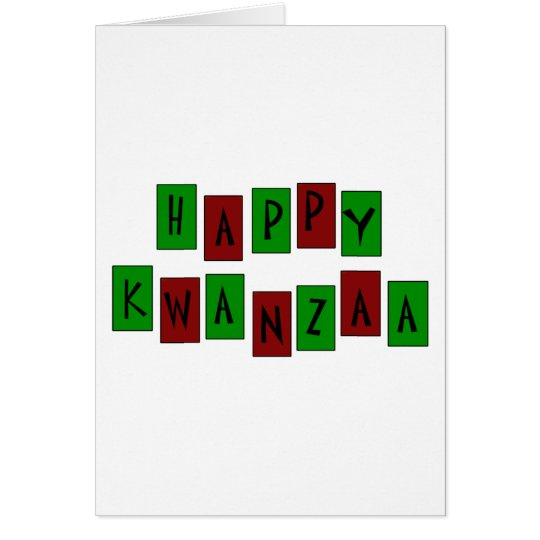 HAPPY KWANZAA  CARD