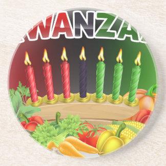 Happy Kwanzaa First Harvest Design Coaster