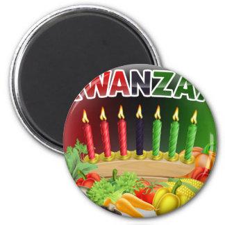 Happy Kwanzaa First Harvest Design Magnet