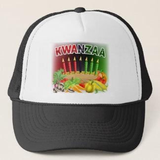 Happy Kwanzaa First Harvest Design Trucker Hat