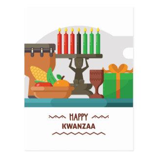 happy kwanzaa gifts postcard