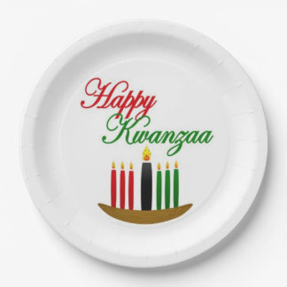 Happy Kwanzaa Kwanzaa Party Paper Plates