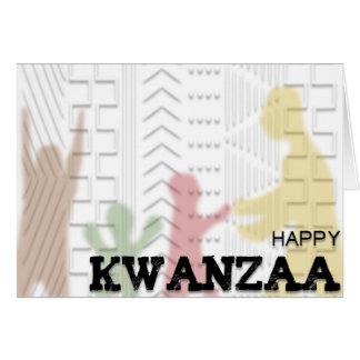 Happy Kwanzaa Mud Cloth design red green black Card