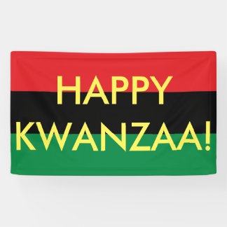 Happy Kwanzaa Red Black Green RBG UNIA Flag
