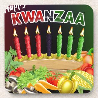 Happy Kwanzaa Sign Coaster