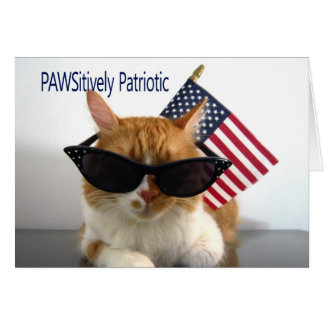 Happy Labor Day - PAWSitively Patriotic Cat Card