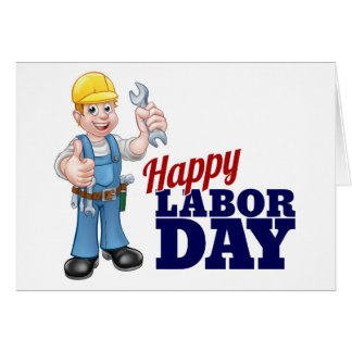 Happy Labor Day Worker Design Card