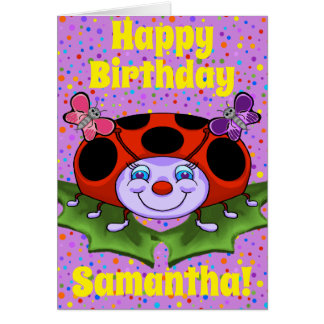 Happy Ladybug Birthday Card