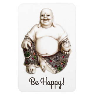 Happy laughing good luck Buddha Rectangular Photo Magnet
