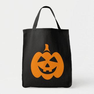 Happy laughing Jack o lantern bag