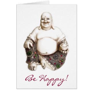 Happy Laughing Joyful Good Luck Fortune Buddha Card
