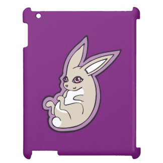 Happy Lavender Rabbit Pink Eyes Ink Drawing Design Case For The iPad